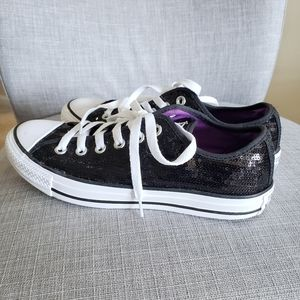 Converse All-Star sequin shoes Size 8